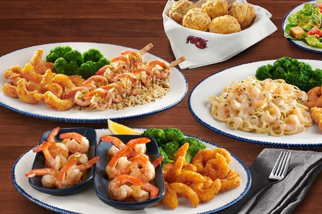 Red lobster shrimp feast