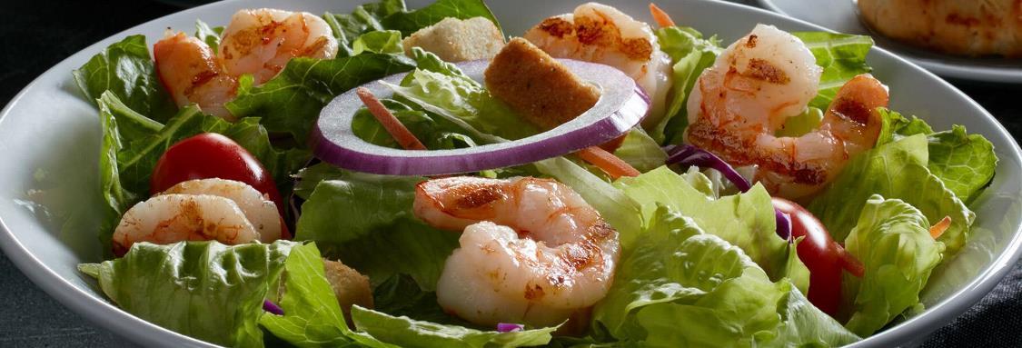 Coastal Soup and Grilled Shrimp Salad