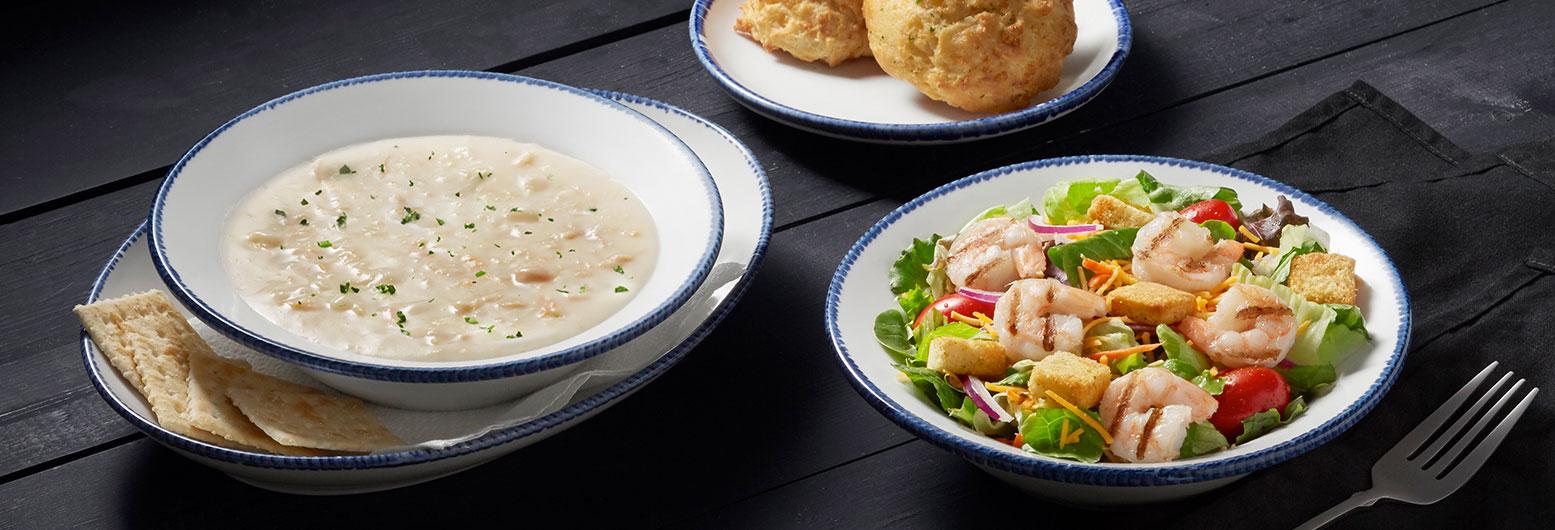 Coastal Soup and Grilled Shrimp Salad | Red Lobster Seafood Restaurants