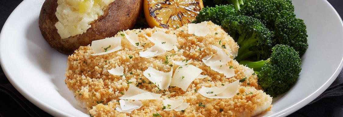 Parmesan-Crusted Fresh Tilapia