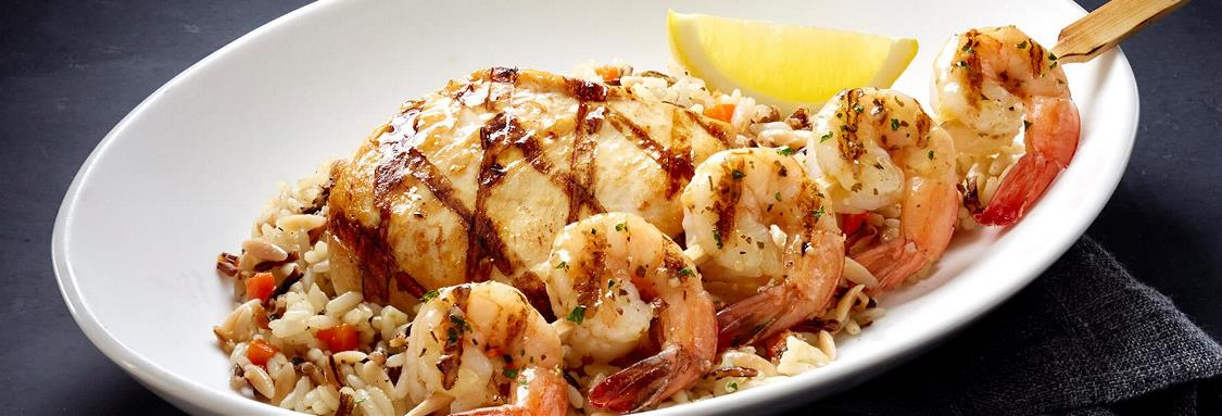 Shrimp and Wood-Grilled Chicken