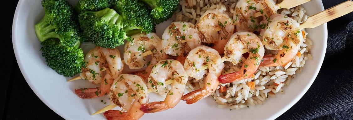 Lighthouse Garlic-Grilled Shrimp