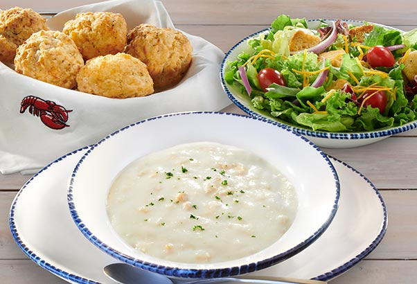 Soup, Salad, and Biscuits